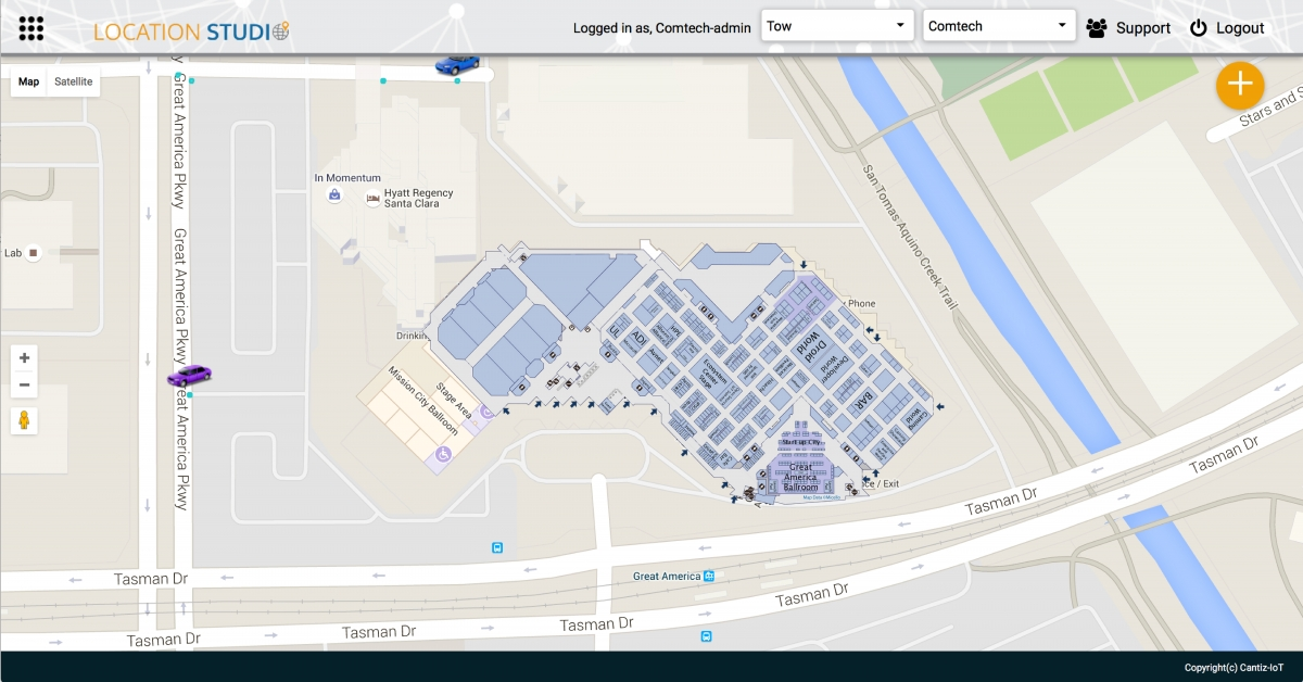 comtech telecommunications demos with micello indoor maps